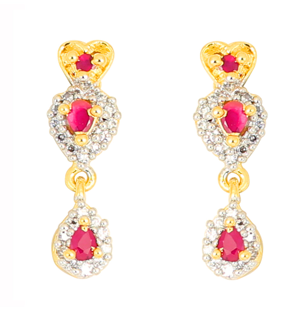 Touchstone Pink & Yellow Hanging Earrings- BBETGA64-01AR-M