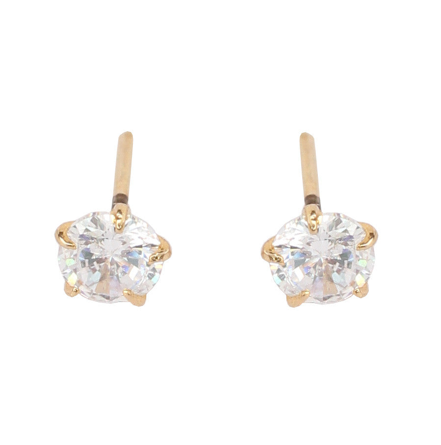 Cute and designer cubic zirconia earrings by Touchstone- BBETGF26-01A--Y