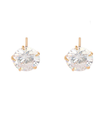 Cute and designer cubic zirconia earrings by Touchstone- BBETGF34-01A--Y