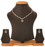 Gold & Rhodium Plated CZ Charming Necklace Set By Touchstone- BBNSGA16-01AE-M