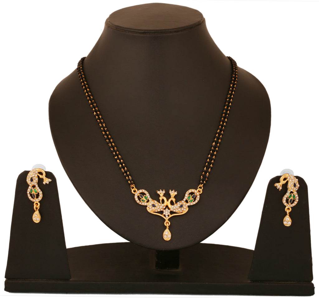 Touchstone Peacock Mangalsutra Set- BBPSG923-01A--Y
