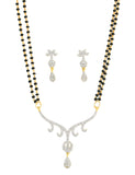 Rich Indian Traditional Modern Style Mangalsutra White Cu- BBPSG991-01A--M