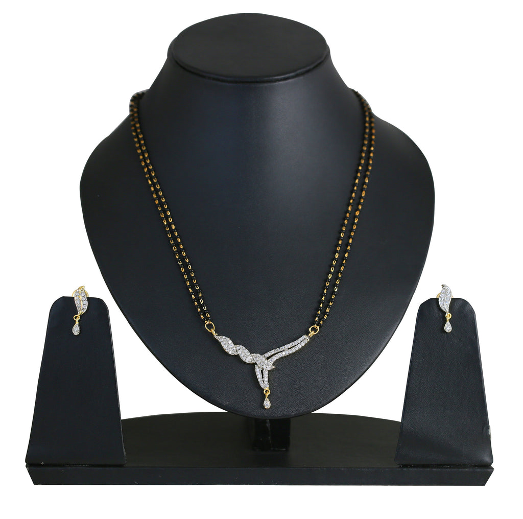 White Brass Two Tone Plated Exclusively Mangalsutra Set C- BBPSG999-01A--M