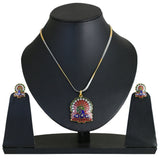 Traditional Ethnic Indian Peacok Pendant Set Exemplary En- BBPSGA04-01A--M
