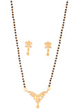 Touchstone gold plated indian style mangalsutra set- BBPSGA22-01A--Y