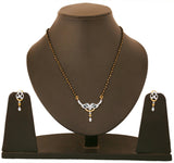 Touchstone Two tone Plated diamond look mangalsutra set- BBPSGB20-01A--M