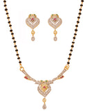 Gold & Rhodium Plated CZ Designer Mangalsutra Set By Touchstone- BBPSGC27-01AREM