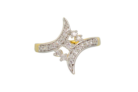 Touchstone Alluring Gold Plated Austrian Diamond Ring- BBR--156-01A--M