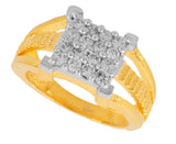 Touchstone Fine Design Cz Gold & Rhodium Plated Finger Ring- BBR--201-01A--M