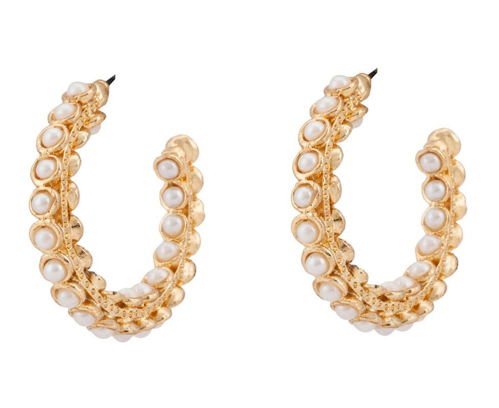 Pearl Bead Earrings By Touchstone- DGET-288-01P--G