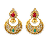 Touchstone Elegant Bridal Hanging Earrings- DGET-290-01X--G