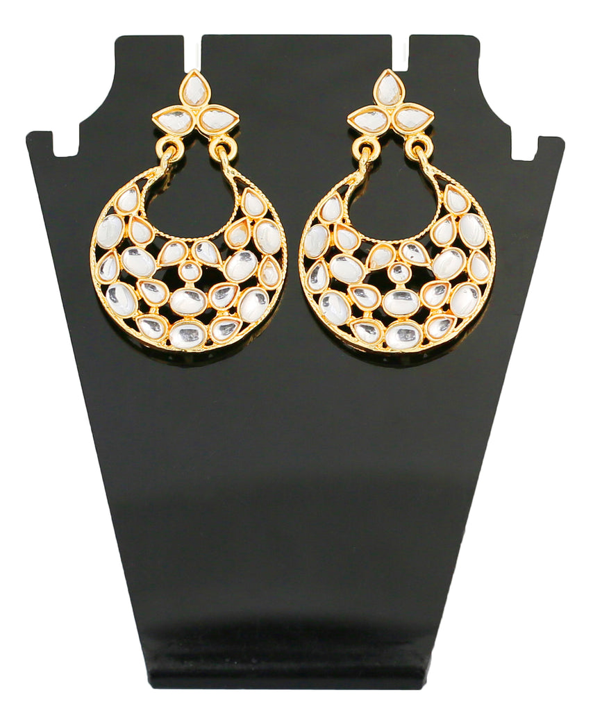 Touchstone Stylish Bridal Hanging Earrings- DGET-296-01K--G