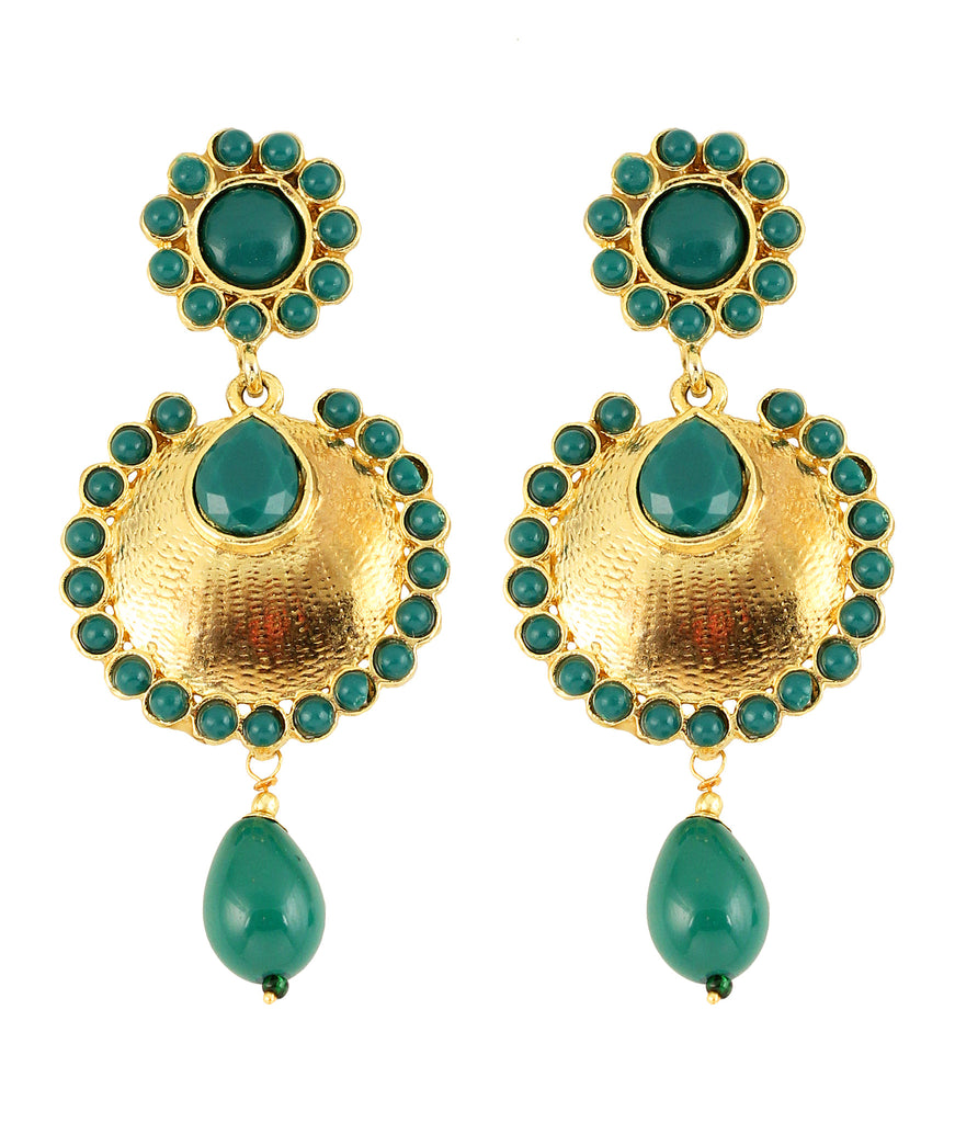 Touchstone Alloy Metal Gold Plated Nicely Designed Earrings- DGET-306-01E--G