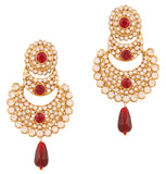 Touchstone Antique Gold Plated Traditional Earrings- DGET-506-06AR-G
