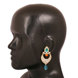 Touchstone Antique Gold Plated Attractive Earrings- DGET-508-05AWYG
