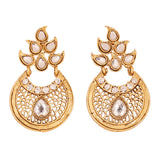 Touchstone Antique Gold Plated Designer Earrings- DGET-518-01AK-G