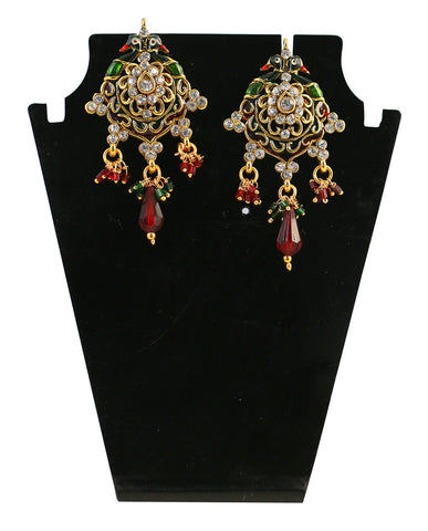 Touchstone Alluring Multicolour Austrian Diamond Hanging Earrings- DGETE088-01A--G