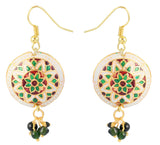 Touchstone Glittery Style Diva Hanging Earrings- DGETE136-01---Y