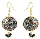 Touchstone Trendy Style Diva Hanging Earrings- DGETE137-02---Y