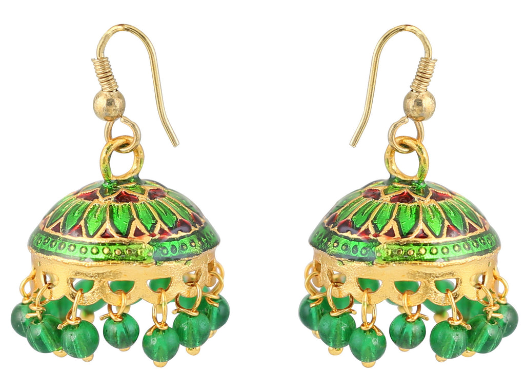 Touchstone Mesmerising Style Diva Jhumkis- DGETE139-08---Y