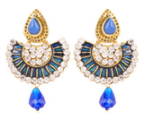 Touchstone Antique Gold Ethnic Earrings- DGETE154-03AW-G