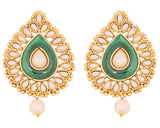 Touchstone Antique Gold Classy Earrings- DGETE163-01P--G