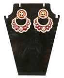 Touchstone Antique Gold Designer Earrings- DGETE164-09A--G