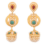 Touchstone Long Ethnic Earrings- DGETJ124-03PREG