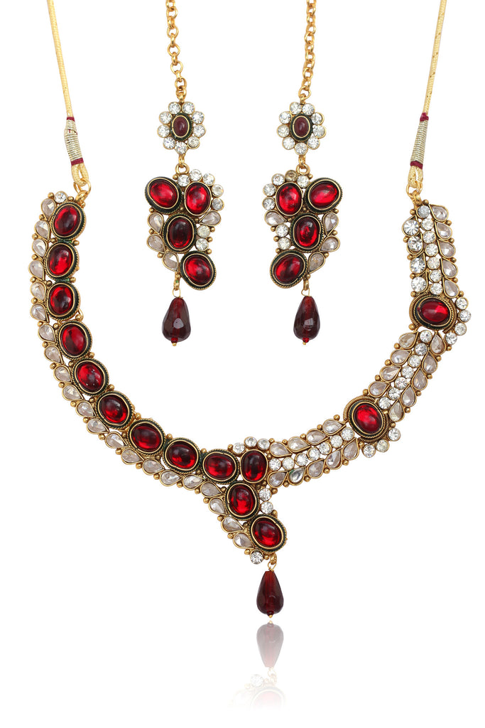Austrian Diamond Necklace Set By Touchstone - DGNS-206-01KARY