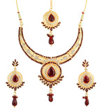 Touchstone Amazing Antique Necklace Set With Maang Tika- DGNS-298-01AR-Y