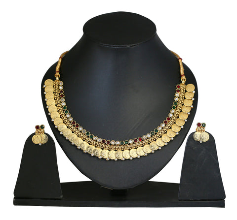 Touchstone Ravishing Antique Necklace Set- DGNS-300-01AREY