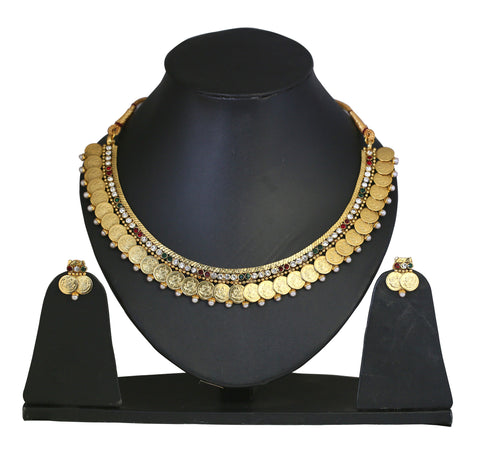 Touchstone Splendid Antique Necklace Set- DGNS-303-01AREY