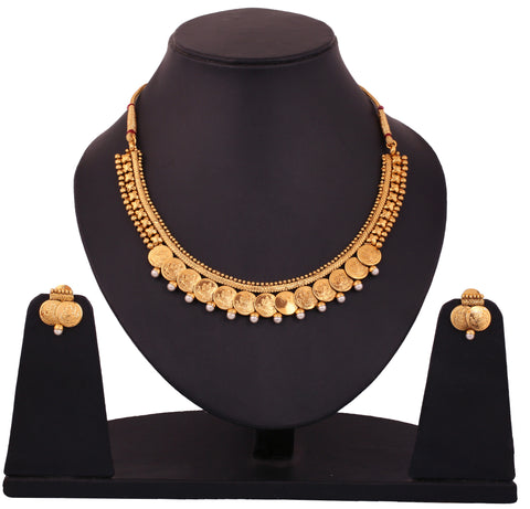 Touchstone Alloy Jewel Set Gold- DGNS-336-01P--G