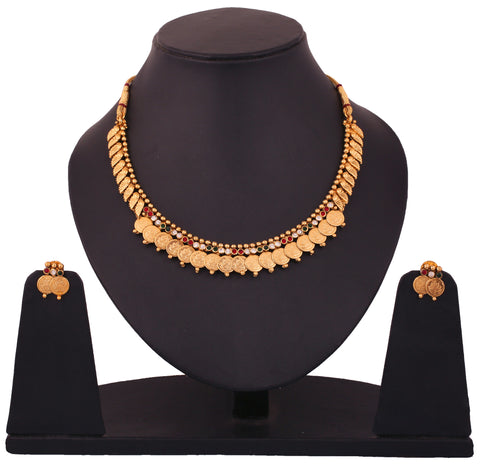 Touchstone Alloy Jewel Set Gold- DGNS-337-02AREG