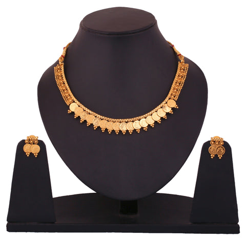 Touchstone Alloy Jewel Set Gold- DGNS-340-01---G