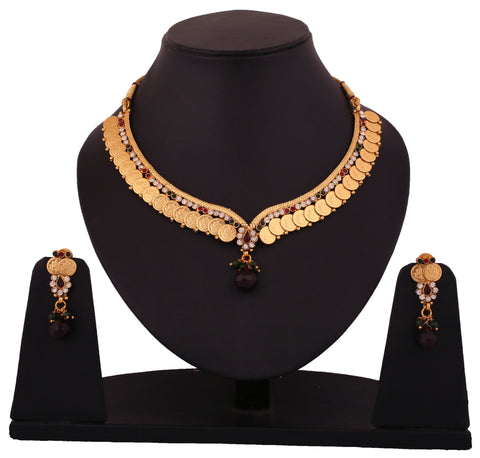 Touchstone Alloy Jewel Set Gold- DGNS-342-01AREG