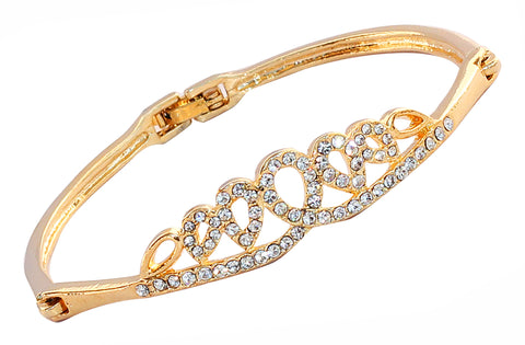 Touchstone Tiara Look Bangle Style Ad Bracelet- FGBR-032-02A--Y