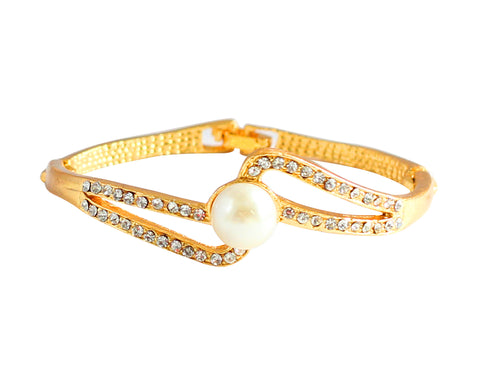 Touchstone Classy Gold Plated Bracelet- FGBR-104-01AP-Y