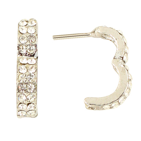 Austrian Diamond Earrings By Touchstone - FGET-A84-01A--W