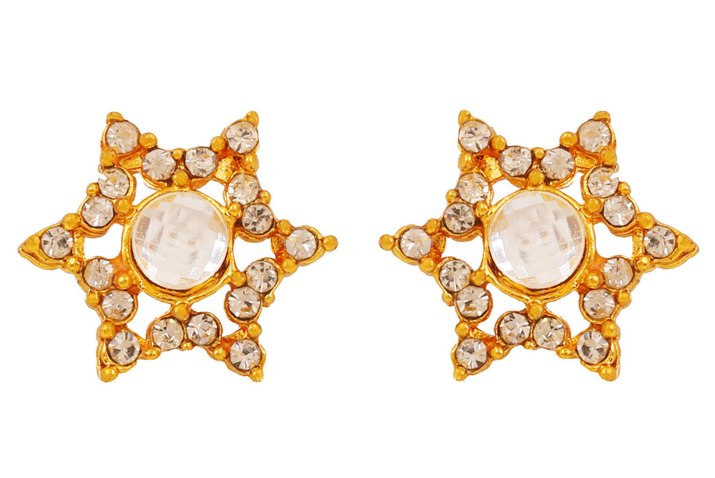 Touchstone Ad Adorned Star Earrings- FGETA040-01A--Y