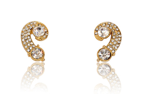 Austrian Diamond Earrings By Touchstone- FGETA044-01A--Y
