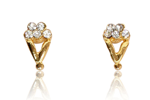 Austrian Diamond Earrings By Touchstone- FGETA055-01A--Y