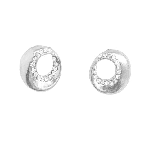 Austrian Diamond Earrings By Touchstone- FGETA113-01A--W