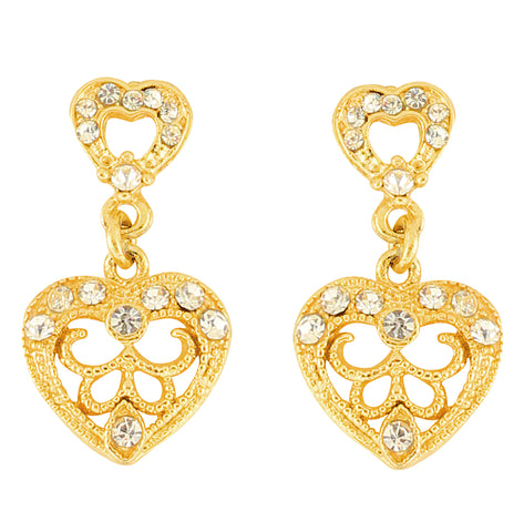 Austrian Diamond Earrings By Touchstone - FGETA119-01A--Y