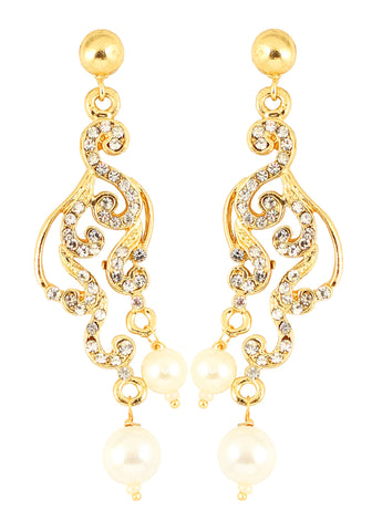 Austrian Diamond Earrings By Touchstone- FGETL015-02A--Y