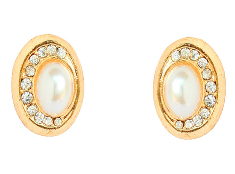 Austrian Diamond Earrings By Touchstone- FGETL032-01AP-Y