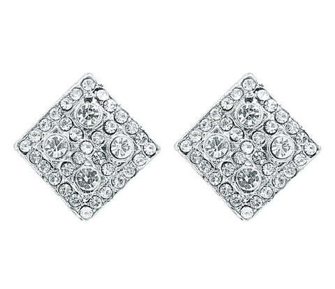 Austrian Diamond Earrings By Touchstone- FGETL033-01A--W