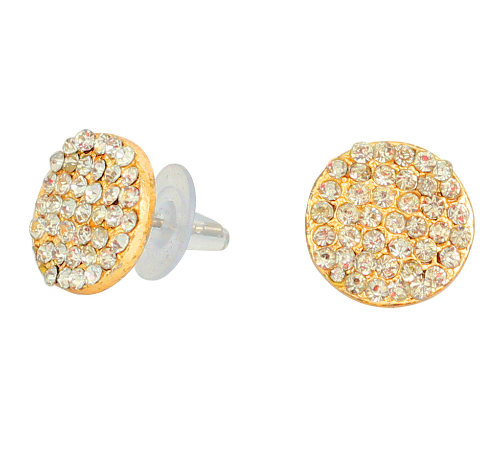 Touchstone Adorable Golden Stud Earrings- FGETL267-01A--Y
