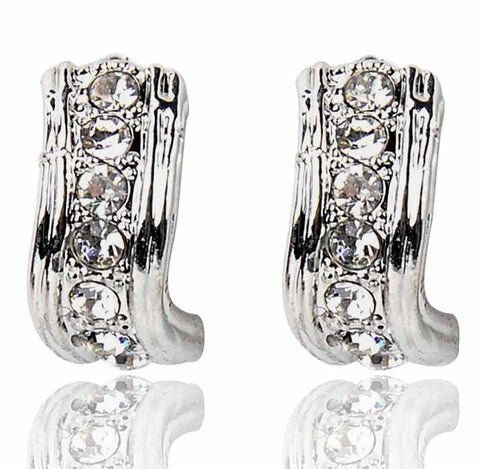 Austrian Diamond Earrings By Touchstone - FGETT013-01A--W