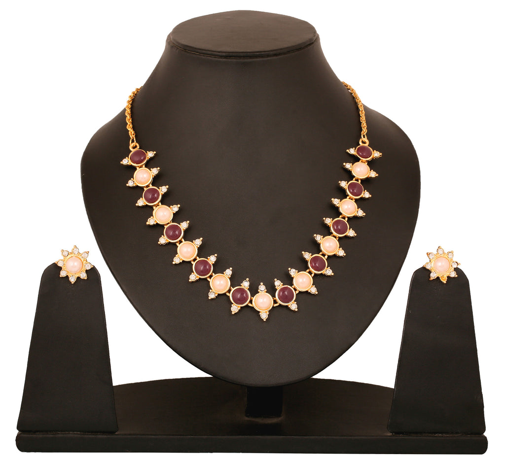 Touchstone Alternate Design Necklace Set- FGNSA003-04ARPY